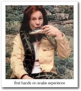 Julia first hands on a snake